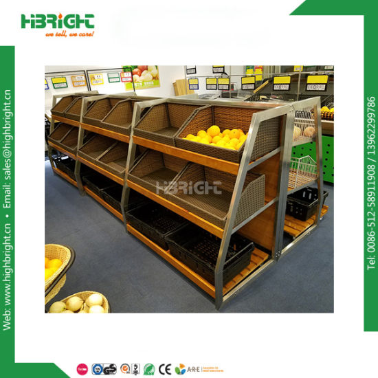 China Super Market Fruit And Vegetable Display Shelf China Simple Market Display Stands