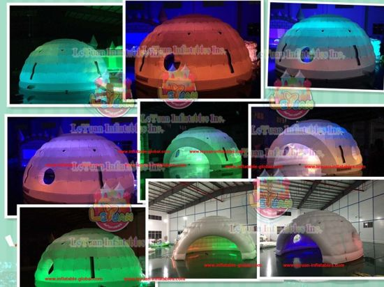 Mobile Lightweight Durable Fabric 6mx6m Inflatable Golf Tent with LED Lighting pictures & photos