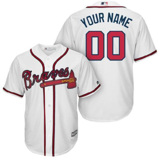 China Customized Atlanta Braves Home Road Cool Base Baseball Jerseys ... 54bfe63d3dd6