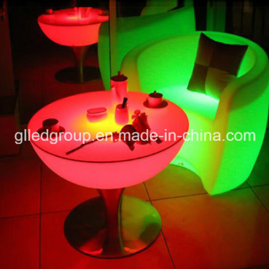 Multi Color Changing Led Coffee Table Good For Home Cafe Bar