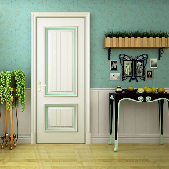 Oppein White Solid Wood Matte Lacquer Interior Door (MSGD31)