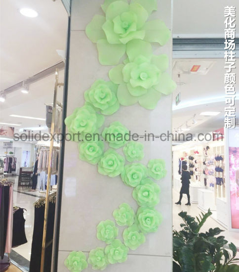 Handmaking Rose Silk Flower Props Decoration for Shop Window Background Wall Display