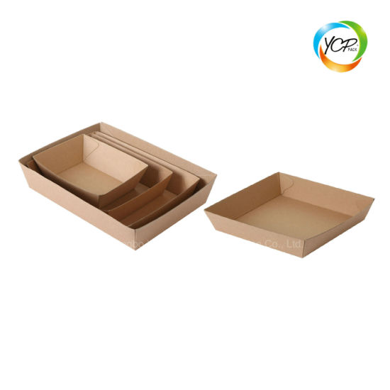 Disposable Food Packaging Corrugated Paper Fast Food Tray