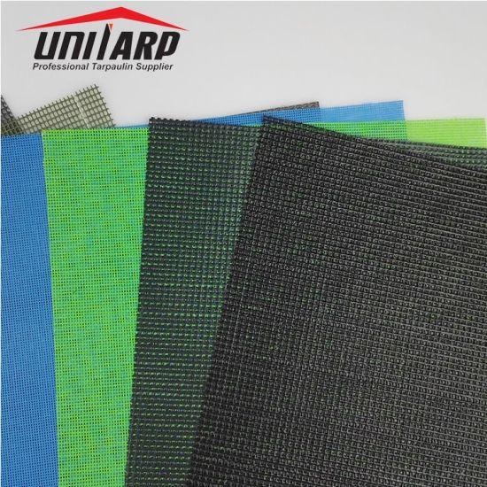 1.8X5.1m, 130GSM, 250d PVC Mesh Tarpaulin Fabric Sheet with Eyelet
