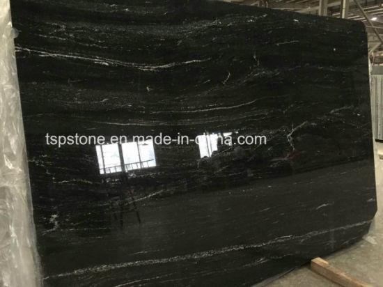 Brazil Via Lactea Black Granite Slab For Project Get Latest Price