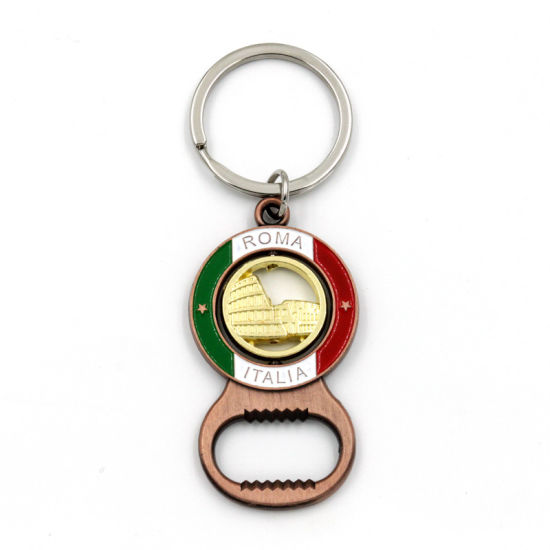 High Quality Wholesale Shape Fabric Key Ring Golden House Handbag pictures & photos