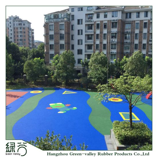Shock Resistant Outdoor Sports Court Rubber Floor for Gym/Stadium/Kids Playground