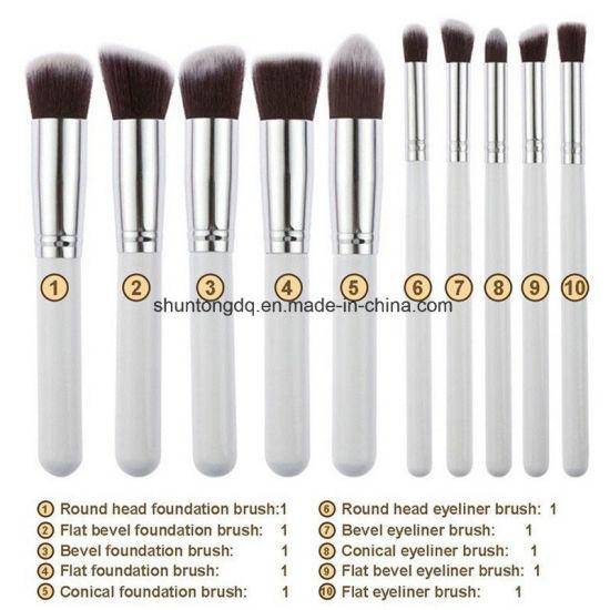b9b837936413 China 10 PCS Silver/Golden Makeup Brush Set Cosmetics Foundation ...