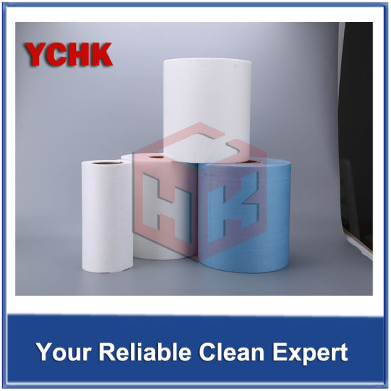 Aluminum Alloy Automobile Parts Cleaning Oil Nonwoven Wiping Roll Cloths pictures & photos