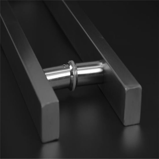 China Glass Door Handle, Hairline Finish Stainless Steel Door Handle ...
