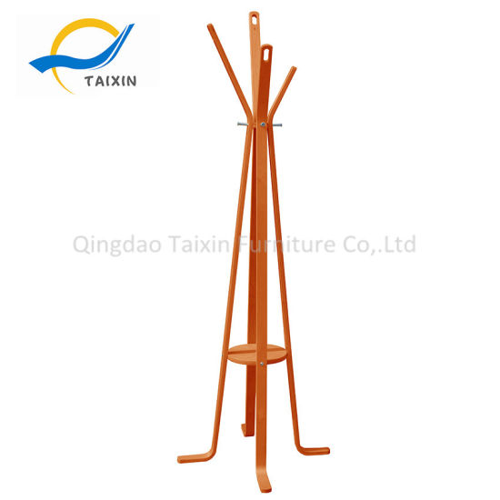 Durable Standing Clothes Garment Hanger with Hooks
