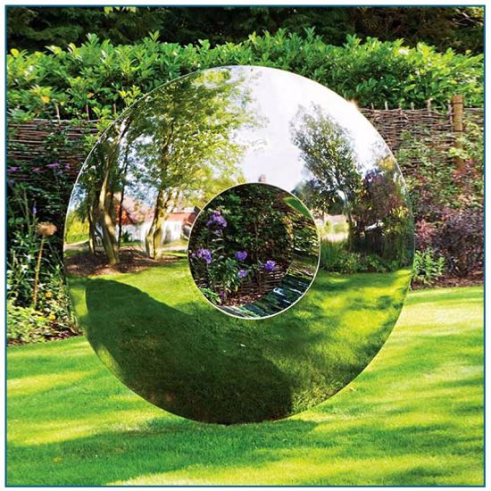 Outdoor Garden Decor Large Metal Statue Stainless Steel Apple Sculpture