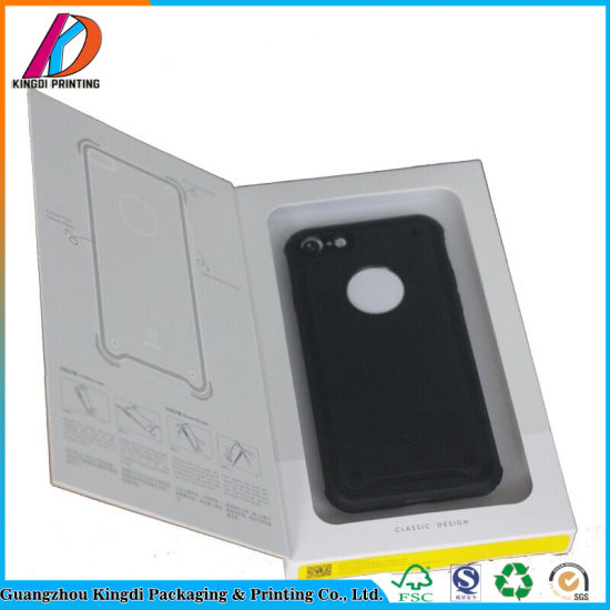 Custom Paper Phone Case Packaging Box with Hang Hole pictures & photos