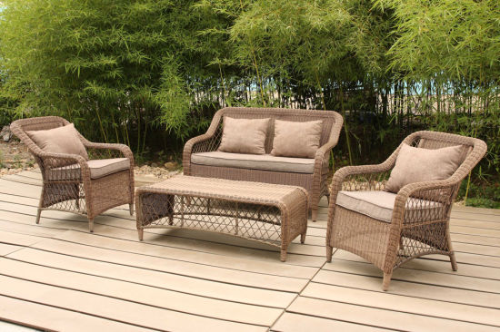 China Soft Cushion Lounge Sofa Set Coffee Table Rattan Outdoor ...