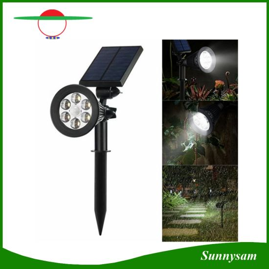 China solar powered spotlight outdoor lighting solar light 2 in 1 solar powered spotlight outdoor lighting solar light 2 in 1 adjustable 6 led solar motion sensor garden landscape lawn lamp aloadofball Image collections