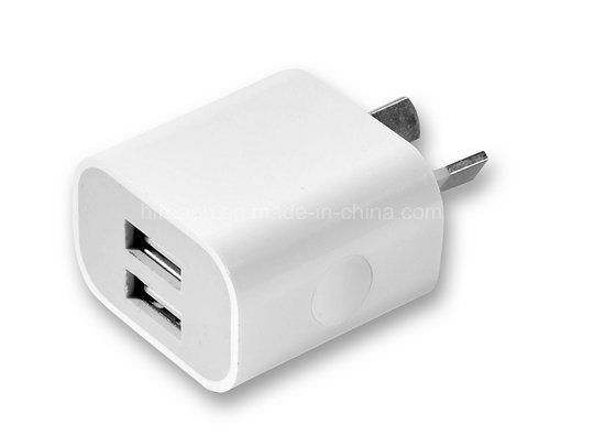 Portable Dual USB Wall Charger Travel Adapter Us Plug Phone Charger pictures & photos