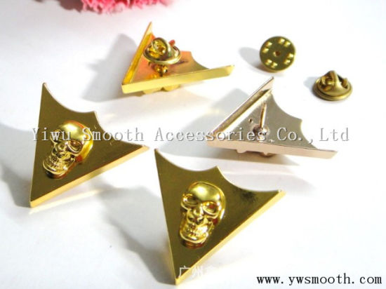 Skull Shape Fashion Metal Collar Tip Corner for Clothing Accessories
