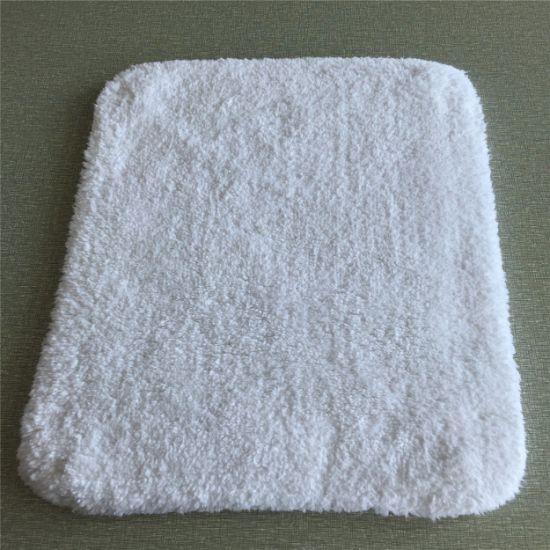 5 Star Hotel Cotton White Bath Rug Mat