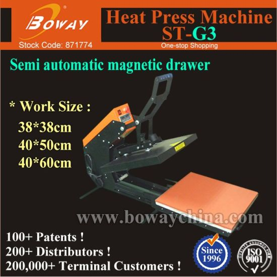 St-G3 Semi Automatic Magnetic Drawer T-Shirt Garment Cloth Heat Press Machine pictures & photos
