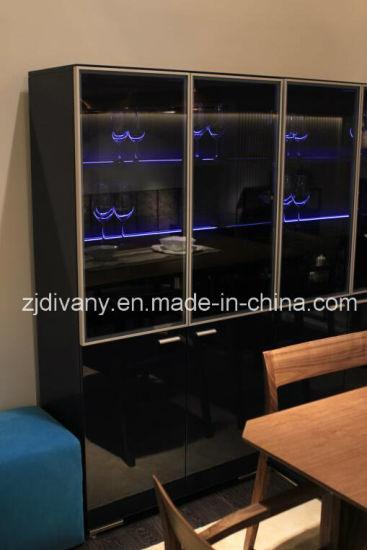 China Modern Black Wood Glass Door Display Cabinet Sm D37 China