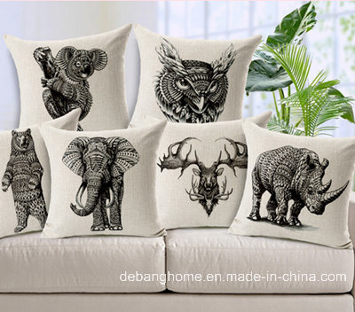 Animal Elephant Cotton Pillow Car Pillow Office Sofa Cushion Covers