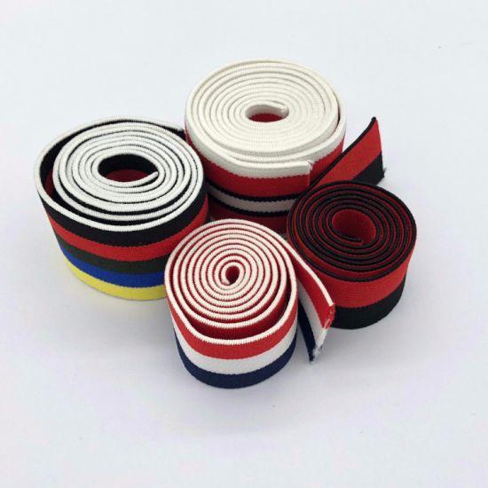 High Quality Polyester Stripes Elastic Webbing