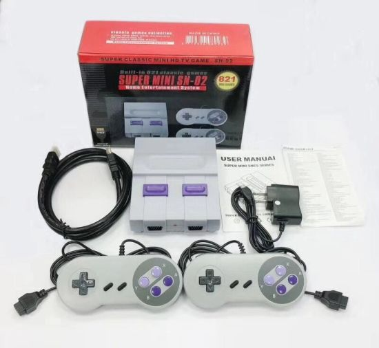 2019 Hot Sale Super Classicmini HD Snes Built-in 821 Games Connecting to TV and Play.