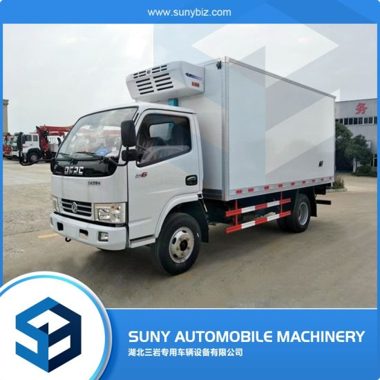 DFAC 4-6tons LHD Rhd 6 Wheeler 140HP Refrigerator Van Lorry Truck Freezer Box Truck Cooling Van Truck Refrigerated Box CKD Vehicle for Meat Fish and Vegetable