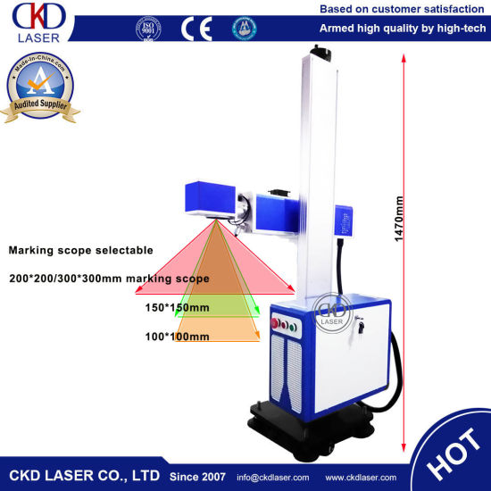 30W CO2 Touch Screen on-Line Flying Printing & Laser Printer for PVC/Cable/Bottle/Leather/Watch/Auto Part pictures & photos