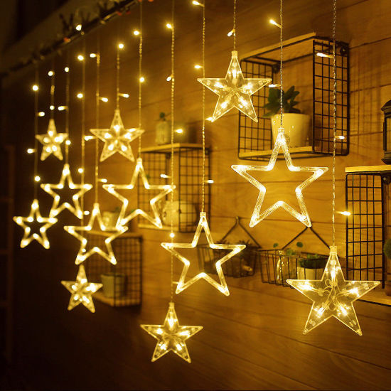 Star Shaped LED Lights String Curtain Window Bedroom Xmas Fairy Lamp Home Deco pictures & photos