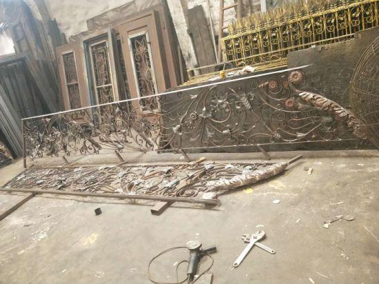 Staircase Handrail Wrought Iron Prefab Metal Stair Railing