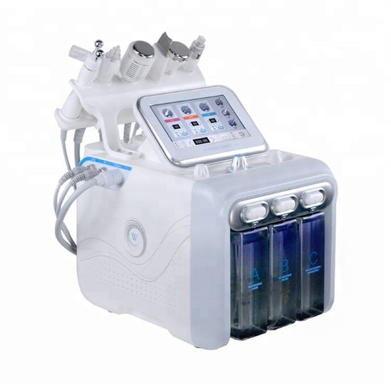 Newest Salon Equipment for Facia Therapy Hydrogen Hydro Machine 6 in 1 Skin pictures & photos
