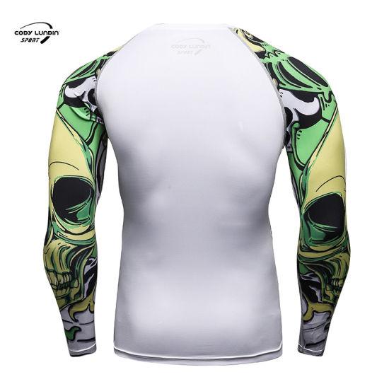 Cody Lundin 92%Polyester 8%Spandex Long Sleeve Tshirt Women Sportswear MMA Rash Guard
