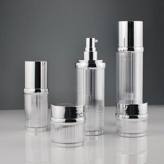 Glossy Silver Airless Cream Jar Lotion Bottle for Cosmetics (PPC-NEW-100) pictures & photos