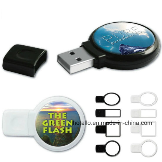 China USB Flash Disk P144 Plastic Memory Stick with Doming Sticker pictures & photos