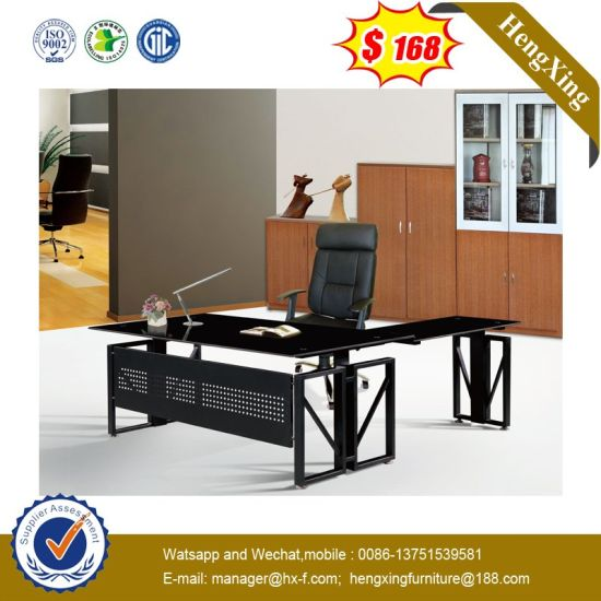 Simple Design Lab Hotel Staff Manager Tempered Glass Office Executive Table pictures & photos