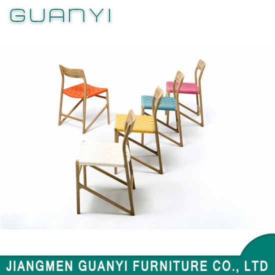 2019 Modern Colorful Strap Wooden Restaurant Sets Dining Chair
