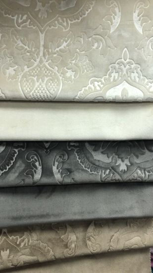 Holland Emboss Italy Emboss Sofa Fabric Printing Emboss Look Special Velvet Sofa Curtain Fabric pictures & photos