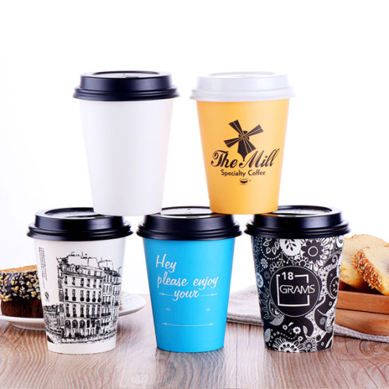 High Quality Paper Coffee Cup Custom Printed Double Wall Insulated Disposable Paper Cup pictures & photos