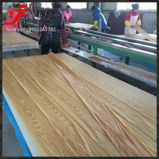 Indoor Used China Wholesale Furniture Board Natural Red Oak Veneer MDF