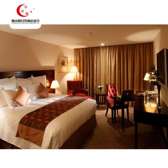 High Gloss 5-Star Royal Hotel Bedroom Sets for Dubai Hotel