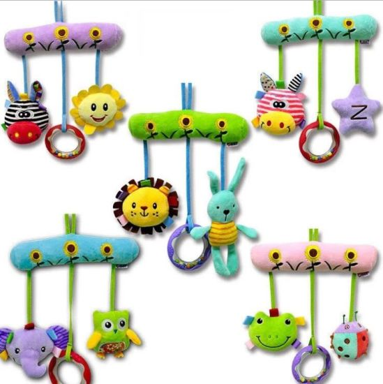 Baby Infant Crib Toy Wrap Around Crib Rail Toy Stroller Toy Cute Baby Educational Plush Toys