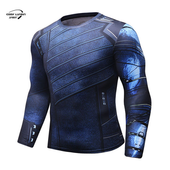 Cody Lundin Men's Running T-Shirts Soccer Shirts Quick Dry Sport Fitness T Shirts Men Gym Running Shirts Sportswear Top
