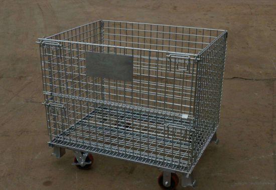 Foldable Galvanized Wire Mesh Storage Cage