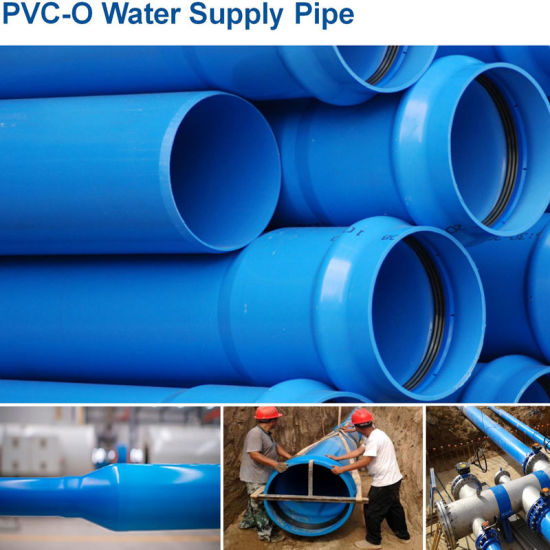 Tk Pipe Oriented PVC Water Pipe Blue White with Integral Socket End Pn16 DN630