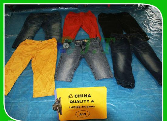 Used Clothing in Bales Ladies 3/4 Pants