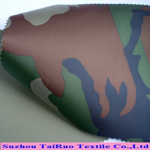 Camouflage Printed Polyester PVC Coated Oxford with Waterproof