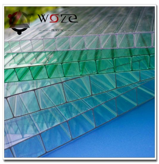 PC Sheet Custom Size Polycarbonate Twin Wall Hollow Sun Sheet for Plastic Cover pictures & photos