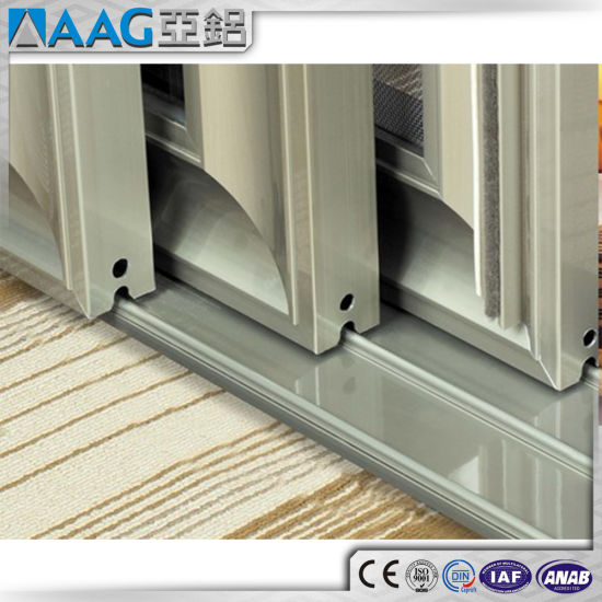 China Sound Proof Aluminum Double Glass Sliding Door China Sliding