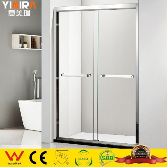 Wholesale Stainless Steel Tempered Glass Bathroom Sliding Shower Door